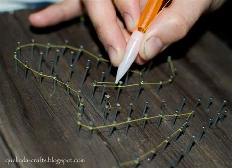 String With Nails - 78 best nail string images on spikes