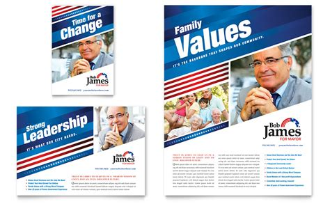 political caign flyer ad template design