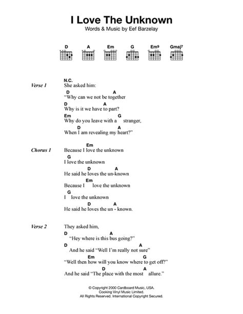 unknown lyrics i the unknown sheet by clem snide lyrics