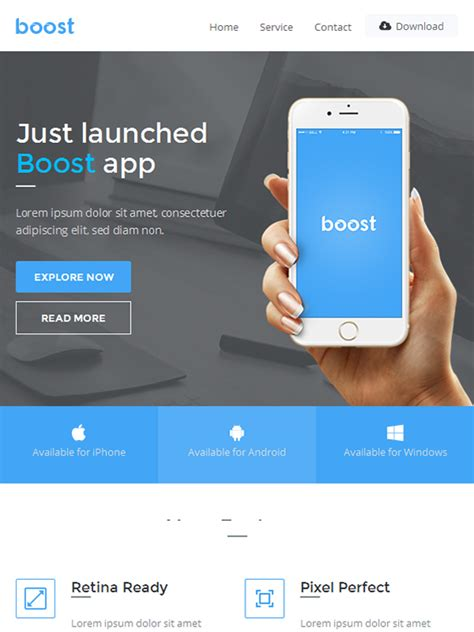 apps email templates boost app promotional email template buy premium boost
