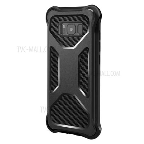 Anti Fiber Samsung S8 Plus Anticrack Knock Shock anti shock matte pc carbon fiber texture tpu combo