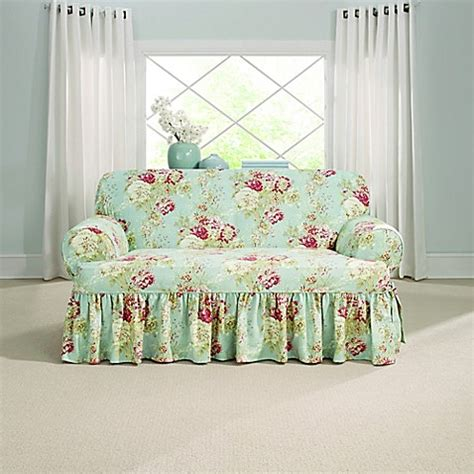 sure fit waverly ballad bouquet sofa slipcover sure fit 174 ballad bouquet by waverly t cushion loveseat