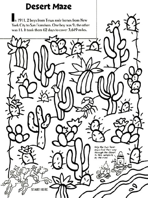 desert coloring pages for kids az coloring pages desert maze coloring page crayola com