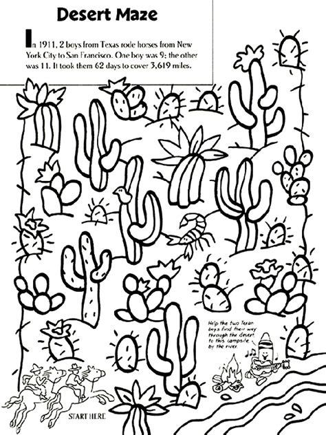 crayola coloring pages horses desert maze crayola com au