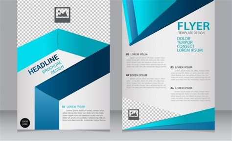 free flyer template illustrator brochure flyer template 3d modern blue checkered ornament free vector in adobe illustrator ai