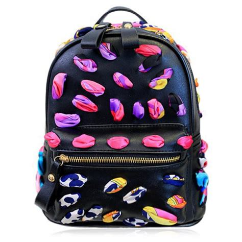 colorful bags bag black colorful college high school school bag