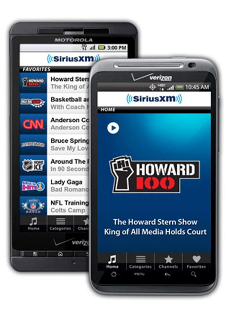 siriusxm   android device