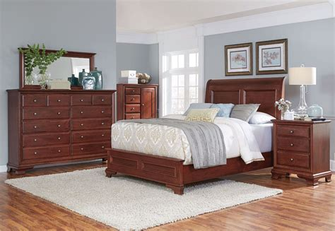 amish classic sleigh bed brown levin furniture