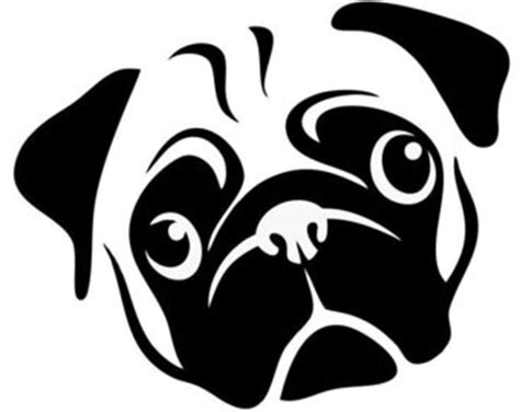 pug outline pug silhouette pictures to pin on pinsdaddy