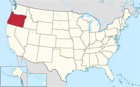 oregon on a map of usa file oregon in united states svg wikimedia commons
