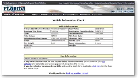 Florida Dmv Number Search How To Tell If A Vehicle Has Liens