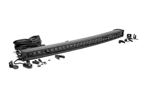 30 curved light bar rou 72730bl rough country 30in curved cree black led