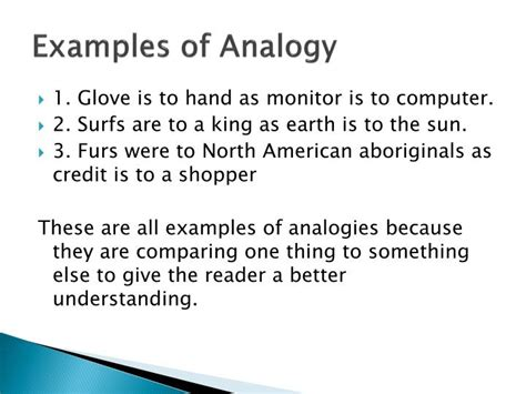 exle of analogy ppt diction allusion analogy powerpoint presentation id 5483538