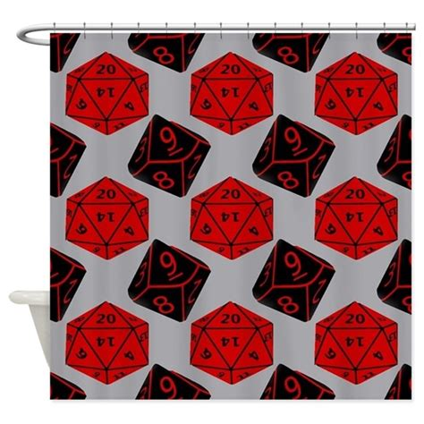 nerdy rugs geeky dice shower curtain by playmeshop