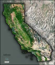 california satellite wall map by outlook maps