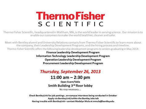 Thermo Fisher Career Mba Internship by Thermo Fisher Scientific Leadership Development Programs