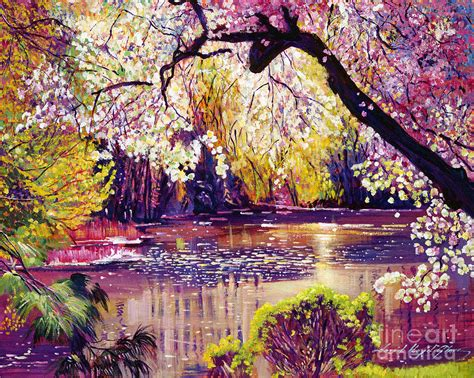 spring paint central park spring pond by david lloyd glover