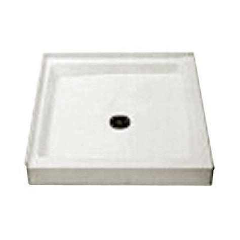34 X 34 Shower Base by Fiat Cascade 34 Quot X 34 Quot Single Threshold Shower Floor White 34wl100 The Home Depot