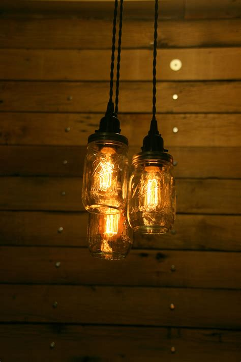 3 Quart Jar Pendant Light Mason Jar By Industrialrewind On Jar Pendant Lights