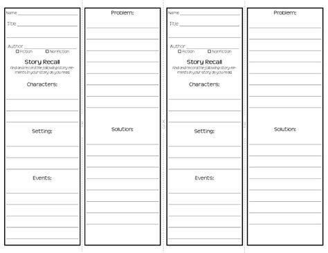 Bookmark Templates For Word by Bookmark Template To Print Activity Shelter
