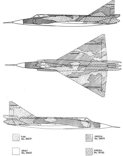 convair f 102a delta dagger southeast asia camouflage color profile and paint guide