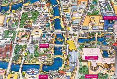 san antonio texas riverwalk map maps of dallas san antonio river walk map