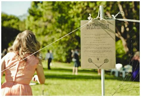 fun wedding lawn games