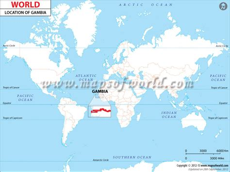 gambia world map where is gambia location of gambia