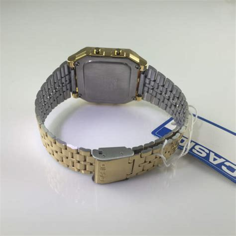 Guess Collection Combi Steel Wga s gold tone casio world time stainless steel a500wga 9