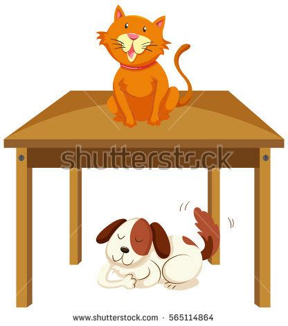 Picnic Table Dining Room by Cat Under Table Stock Images Royalty Free Images