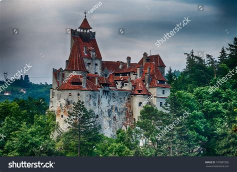 dracula castle in transylvania and the real story about hdr image of medieval bran castle in romania brasov