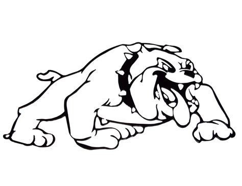 Bulldogs Coloring Pages bulldog coloring pages to and print for free