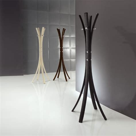 stick modern upholstered free standing coat rack by
