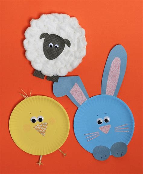 Paper Plate Easter Crafts - 11 cardboard crafts for easter crafts by amanda