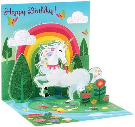 Unicorn Pop Up Card Template by Unicorn Pop Up Card Pop Up Cards Kirigami