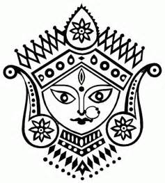 Pencil Drawings Of Goddess Durga &amp Ganesha Durga2gif Coloring sketch template