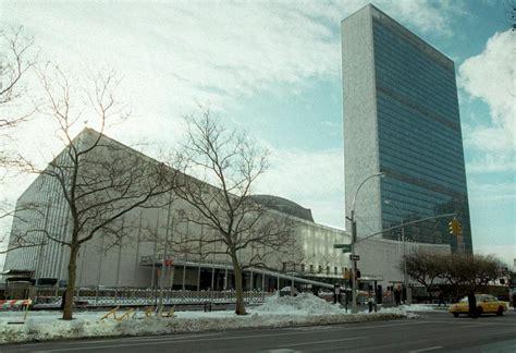 le siege des nations unis douze b 226 timents embl 233 matiques de l architecte oscar niemeyer