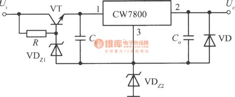 integrated circuit output the high input output integrated stable power supply circuit composed of cw7800 1 power
