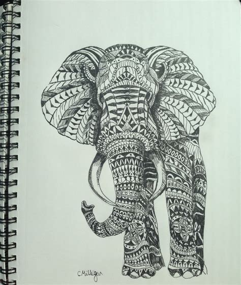 pattern sketches pinterest elephant drawing art pinterest drawings wicked and