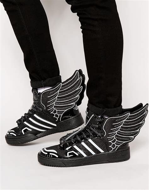 lyst adidas originals x wings 2 0 mesh trainers in black for