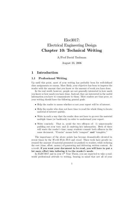 technical report sles technical report writing sles electrical engineering 28