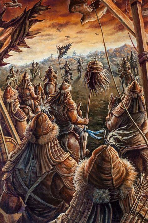biography of artist hashem khan genghis khan advance mongol war art pinterest