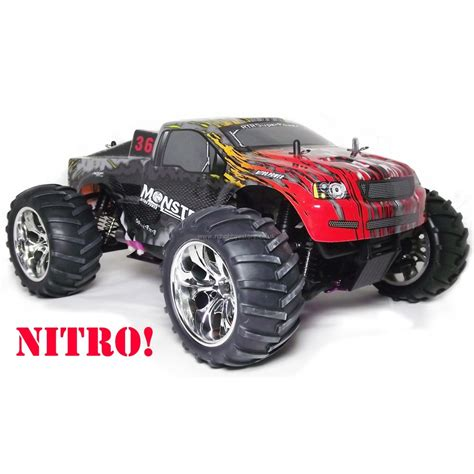 nitro rc monster the quot monster quot nitro powered rc monster truck rtr 1 10th