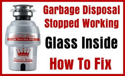 sink disposal not working glass in garbage disposal jammed and not working us3