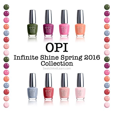 O P I Opi opi infinite shine 2016 collection swatch and learn