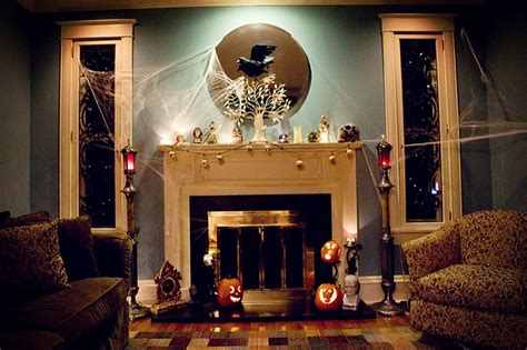 halloween home decorating ideas 50 great halloween mantel decorating ideas digsdigs