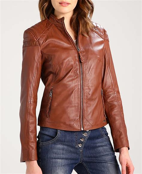 Time Skmei Casual Slim Classic Brown Leather biker style casual brown leather jacket jackets