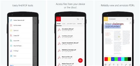 adobe acrobat reader for android top 6 best pdf reader for android 2017
