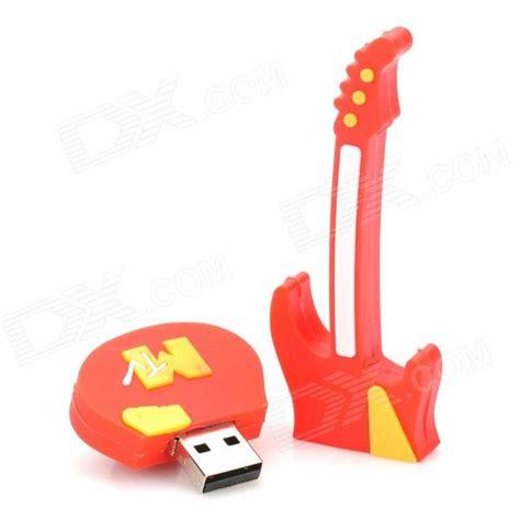 Usb 2 0 Flash Drive 2gb Yellow guitar shaped usb 2 0 flash drive yellow 4gb