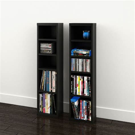 nexera sereni t cd dvd storage towers 211006 black